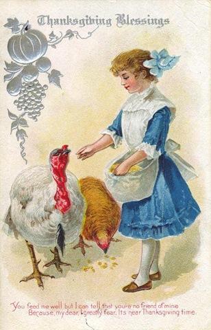 Victorian-thanksgiving-turkeys-girl-postcard