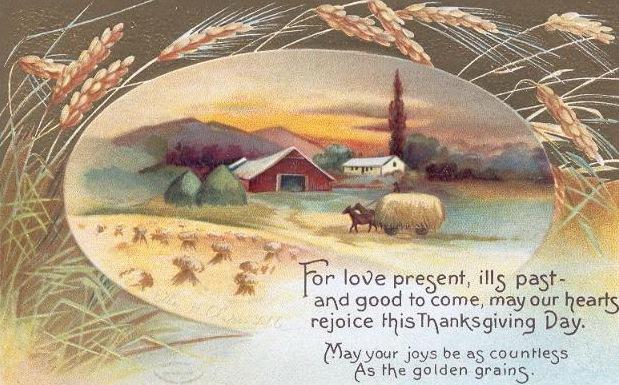 Vintage-thanksgiving-farm-harvest-postcard